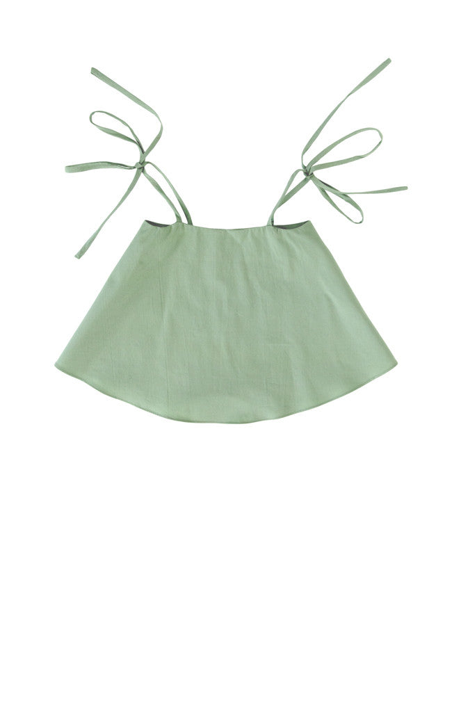 ELIN TOP - LAUREL GREEN