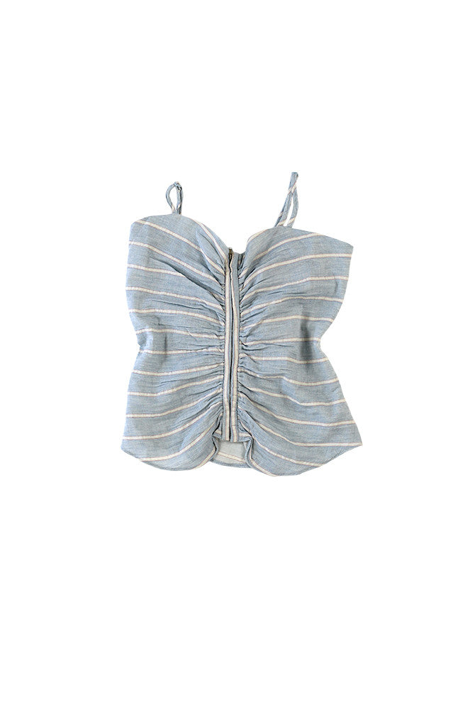LINNEA TOP - BLUE STRIPE