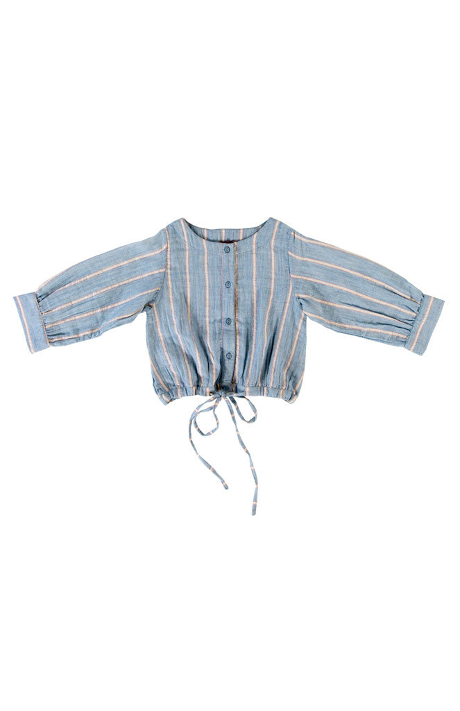 SELMA BLOUSE - BLUE STRIPE