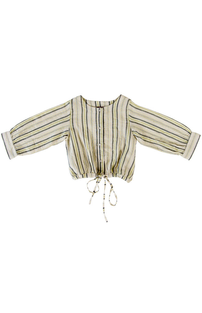 SELMA BLOUSE - GREEN STRIPE