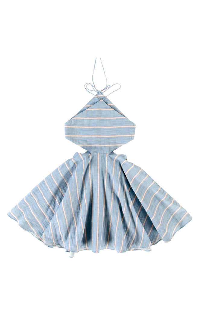 TUCHINDA ANNIKA DRESS - BLUE STRIPE