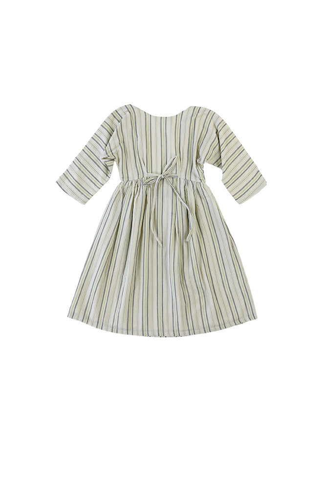 LYKKE DRESS - GREEN STRIPES