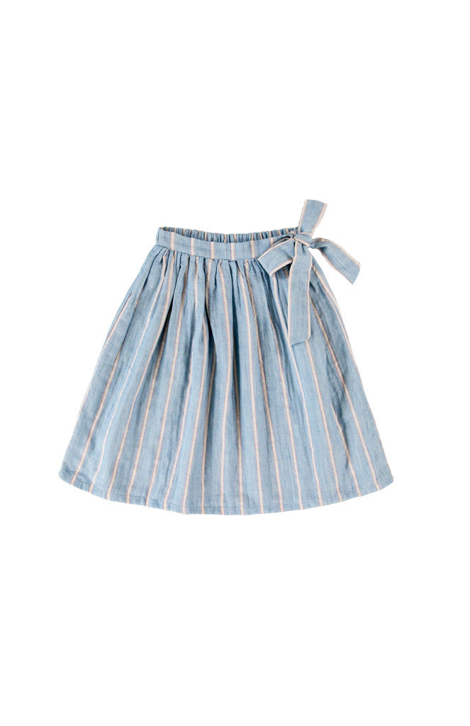 YARA SKIRT - BLUE STRIPE