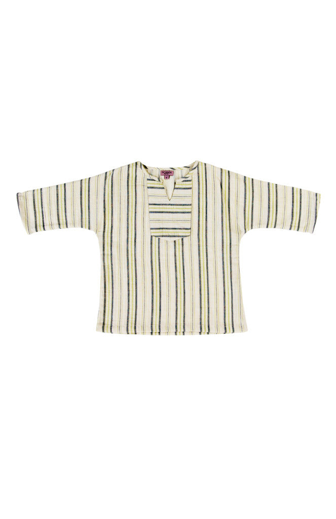 SANTIAGO SHIRT - GREEN STRIPE