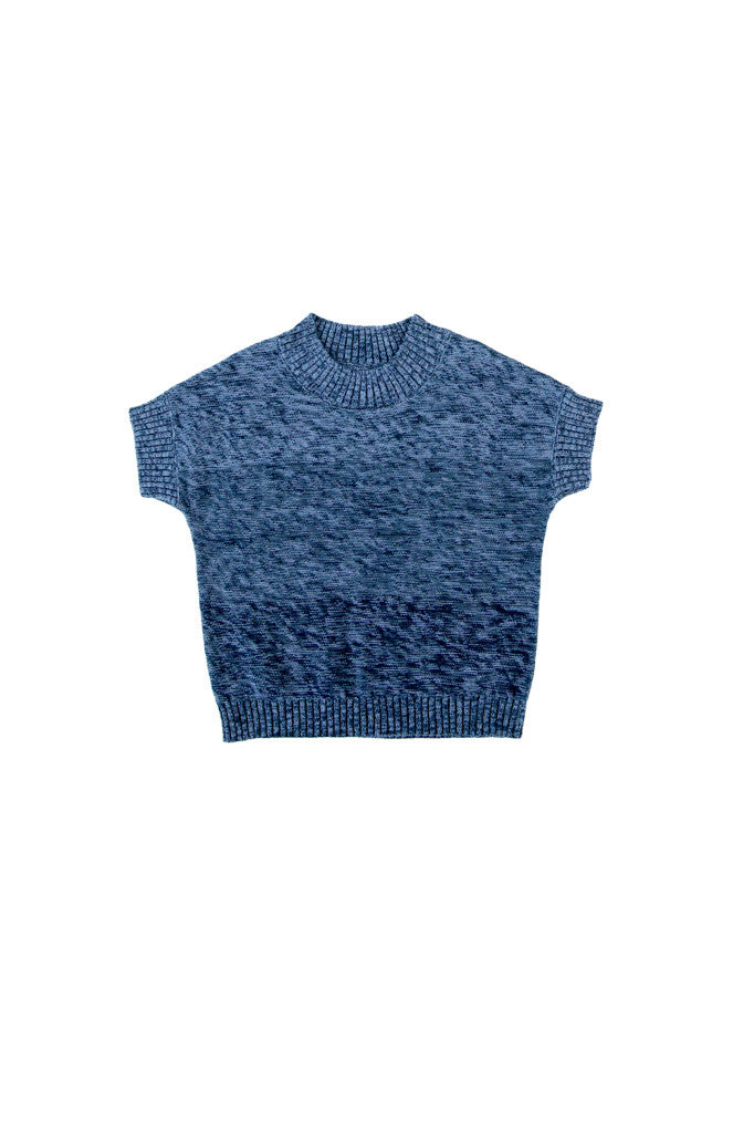 QUINN TOP - BLUE GRADATION