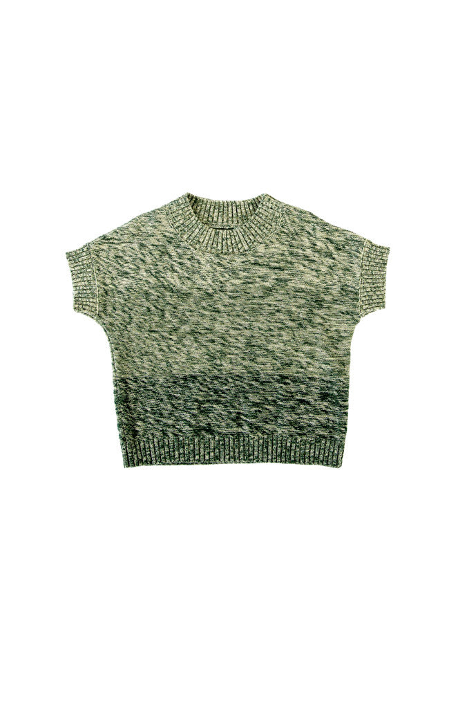 QUINN TOP - GREEN GRADATION