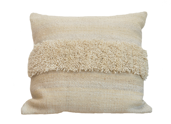 Chunky Knit Square Pillow - Ivory