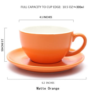 Thick Body Ceramic Coffee Cup and Saucer