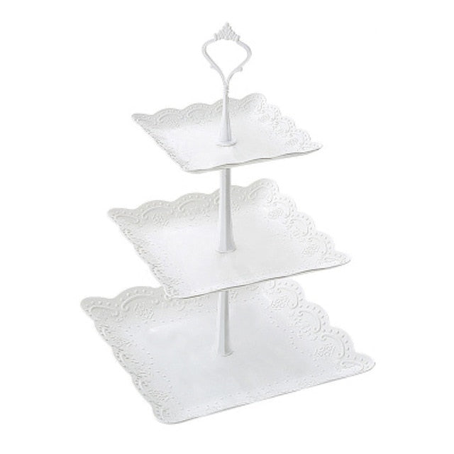Tray 3 Tier Plastic Cake Stand