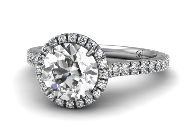 Bostonian Adrainne - Custom Engagement Ring - Pave Diamonds - Bostonian Jewelers