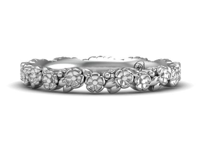 Platinum Blossom Band  - Exclusive Custom Design