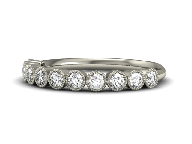 Delicate Bezel Diamond Band