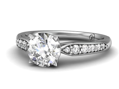 Chloe Classic Pave Engagement Ring
