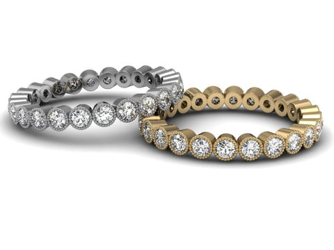 Bostonian Delicate Bezel Eternity Band