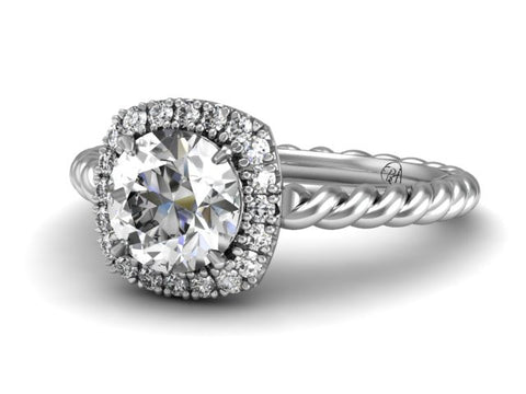 Bostonian Emmeline Twisted Band Engagement Ring