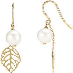 Freshwater Pearl with Leaf Drop