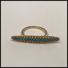 Antique Edwardian Turquoise and Seed Pearl