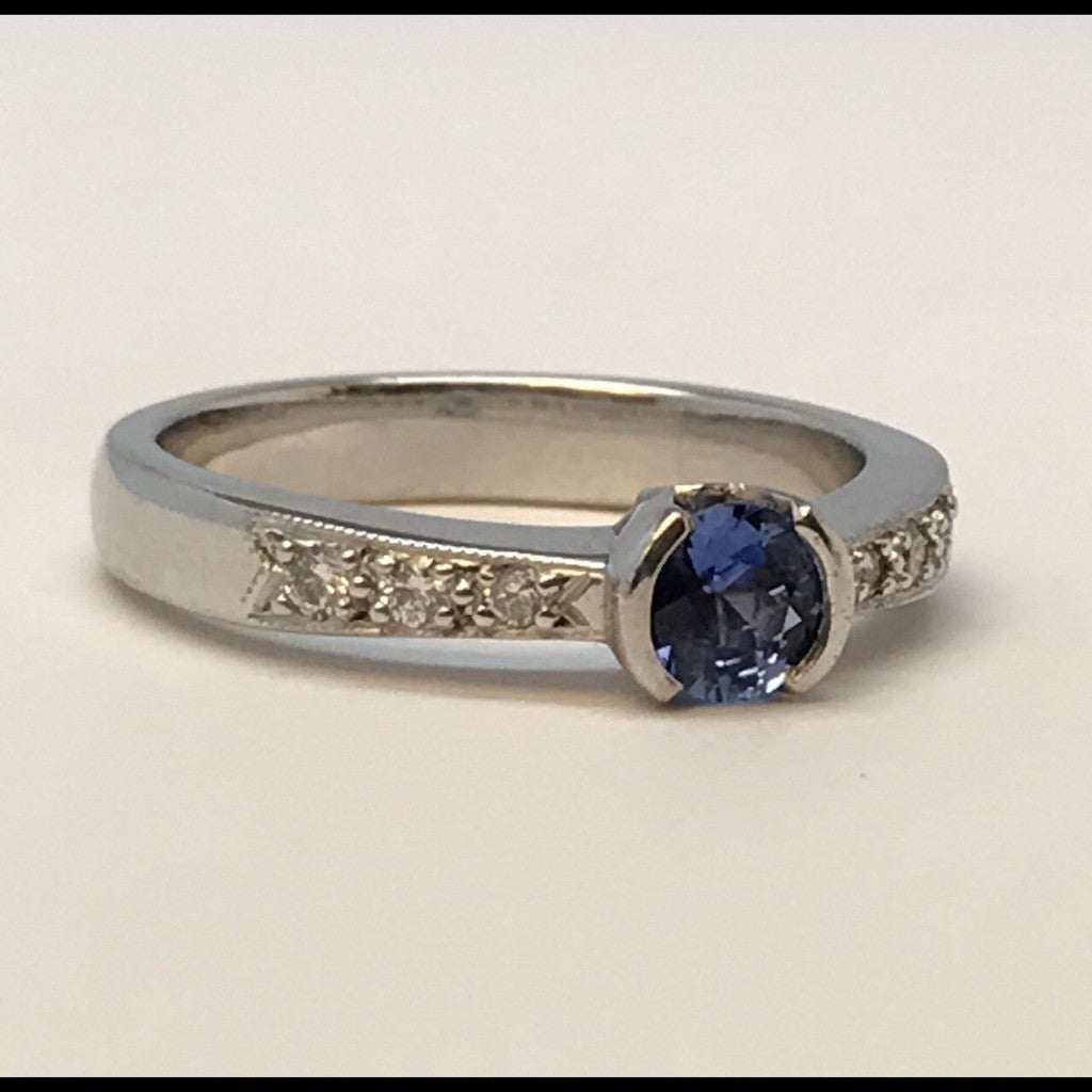 Blue Moon Sapphire and Diamond