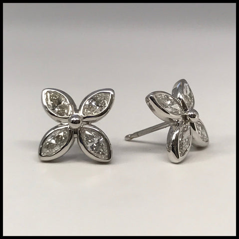 Diamond Petals Earrings