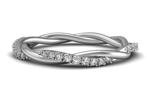 Loose Twist Diamond Band