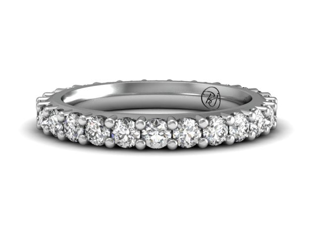 Low Profile Diamond Eternity Band | Platinum | Bostonian Jewelers