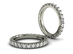 Low Profile Diamond Eternity Band | White Gold | Bostonian Jewelers