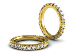 Low Profile Diamond Eternity Band | Yellow Gold | Bostonian Jewelers