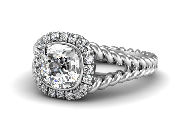 Bostonian Mallory Split Twist Band Engagement Ring