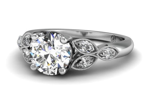Bostonian Mariposa Vintage Inspired Engagement Ring