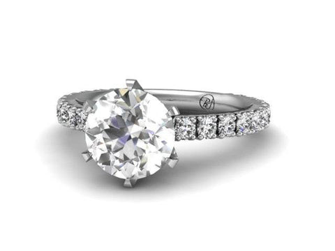 Bostonian Pave Diamond Engagement Ring