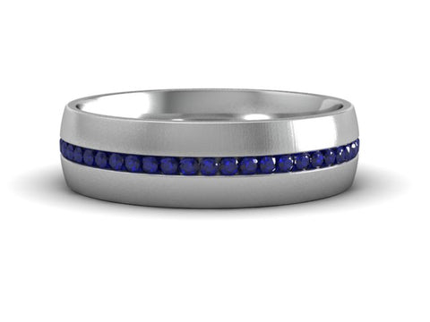 Sapphire Channel Eternity Band
