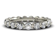Single Prong Classic Diamond Eternity Band Boston Custom Jewelers