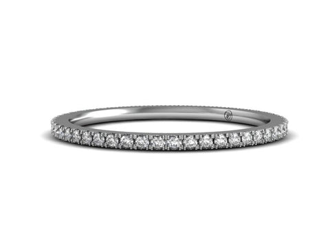 Bostonian French Pave Wedding Band