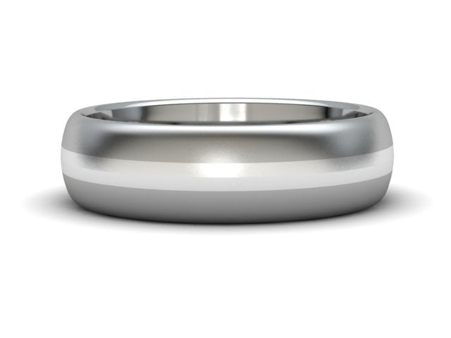 Titanium Sterling Inlay Band