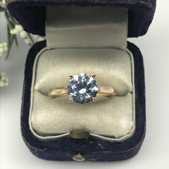 Montana Sapphire American Sapphire Solitaire Alternative Engagement Ring Boston Jewelry