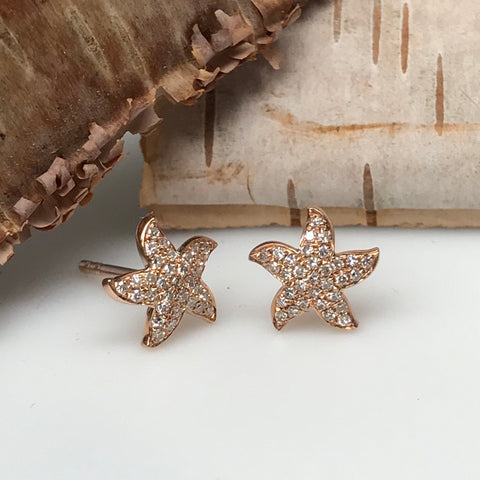 Pave Starfish Earrings