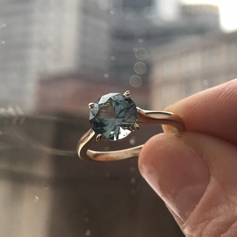 Montana Sapphire Solitaire Ring