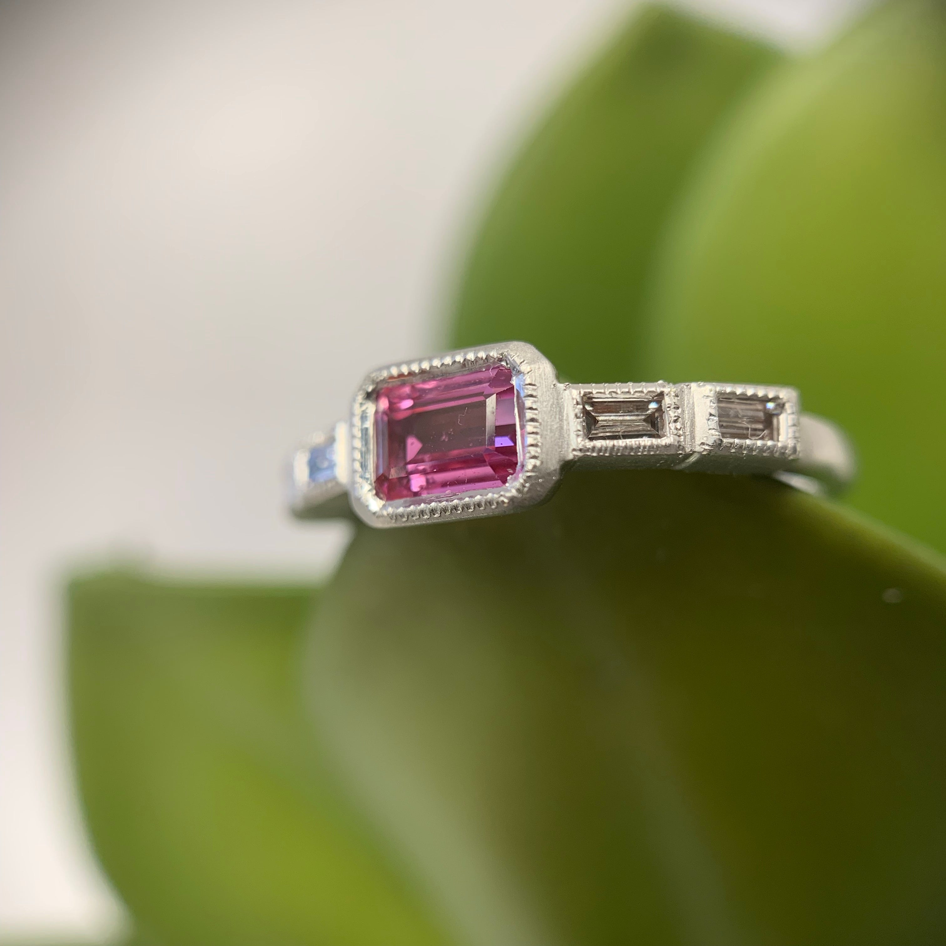 Anna East/West Baguette Ring