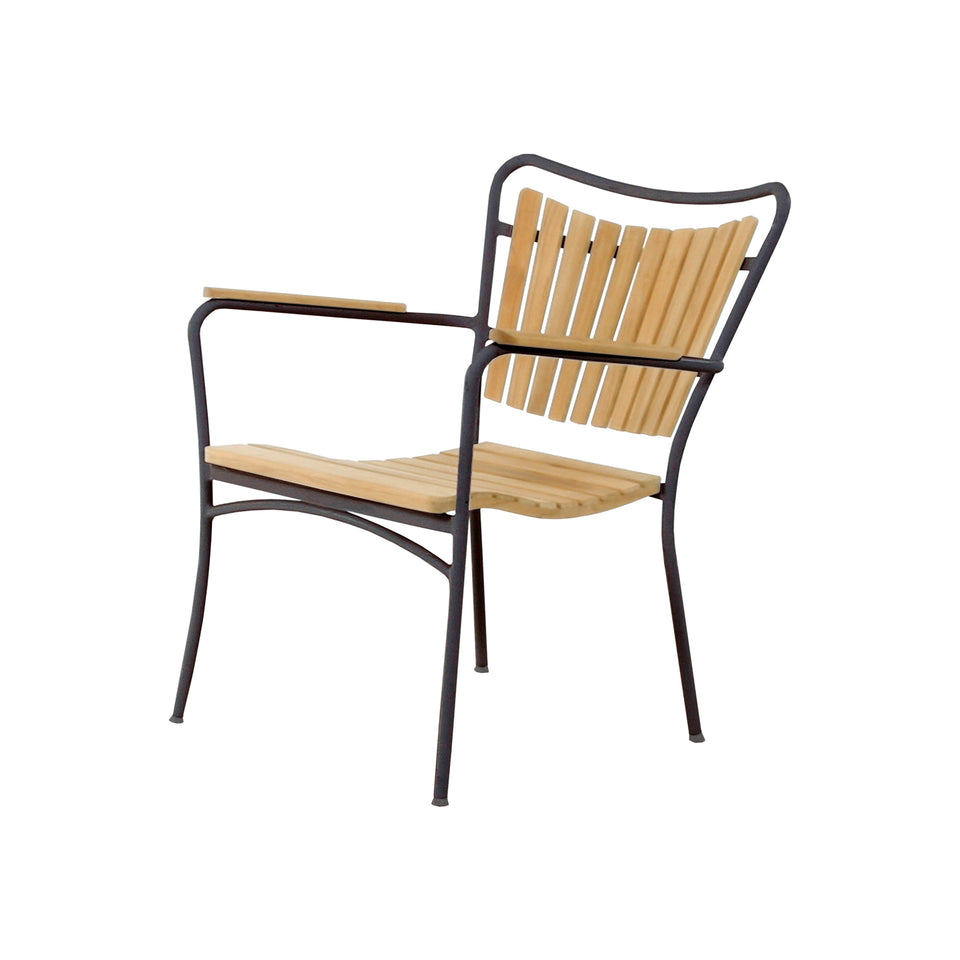 Mandalay Marguerit Loungestol antracit/teak