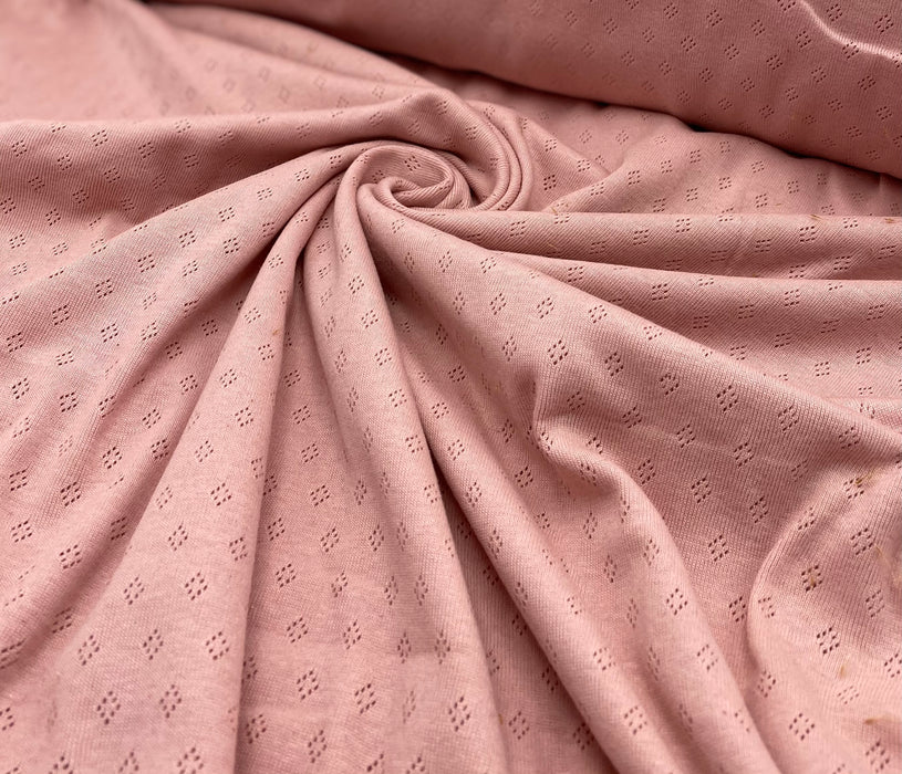 "0,5m Jaquard Jersey ""old rose"""