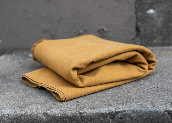 0,5m Heavy Washed Canvas 17oz Farbe Senf