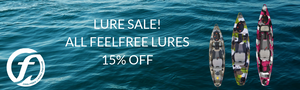 Feelfree Kayaks 15% off Lures Sale