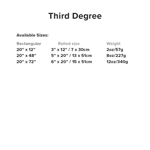 Third Degree Foam Specifications