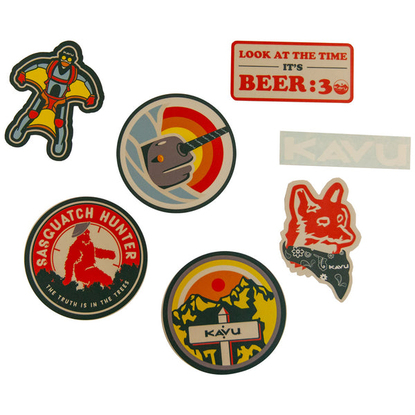 Scout Badges Sticker Pack  Stickers KAVU - Hook 1 Outfitters/Kayak Fishing Gear