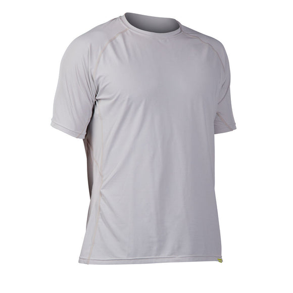 NRS Men's H2Core Silkweight Short-Sleeve Shirt S / ICE GRAY HEATHER Tops NRS - Hook 1 Outfitters/Kayak Fishing Gear