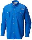 Men's Bahama™ II Long Sleeve Shirt Vivid Blue / S Tops Columbia - Hook 1 Outfitters/Kayak Fishing Gear