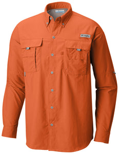 Men's Bahama™ II Long Sleeve Shirt - CLOSEOUT Backcountry Orange - CLOSEOUT / S Tops Columbia - Hook 1 Outfitters/Kayak Fishing Gear