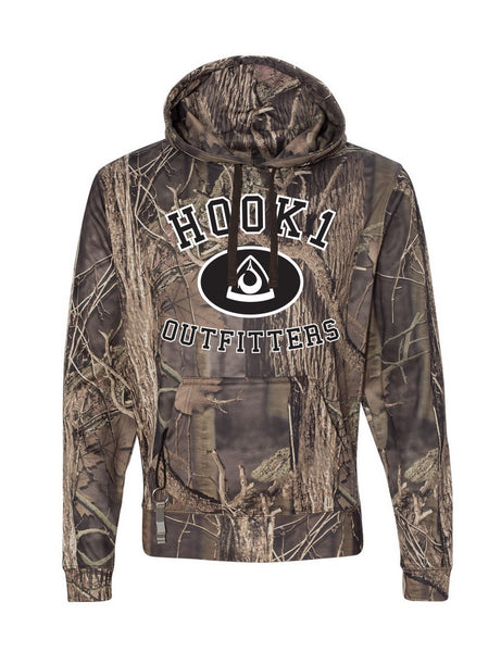 HOOK 1 Spearpoint Camo Hooded Sweatshirt  Apparel Hook 1 Outfitters - Hook 1 Outfitters/Kayak Fishing Gear