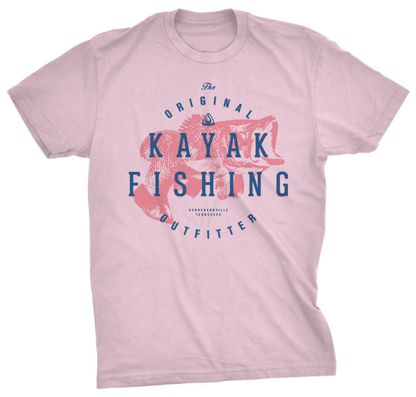 CLOSEOUT: The Original Kayak Outfitters Tee Light Pink  Apparel Hook 1 Outfitters - Hook 1 Outfitters/Kayak Fishing Gear