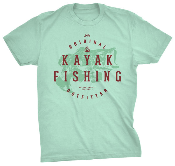 CLOSEOUT: The Original Kayak Outfitters Tee Mint  Tops Hook 1 Outfitters - Hook 1 Outfitters/Kayak Fishing Gear
